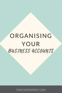 Organising your business accounts
